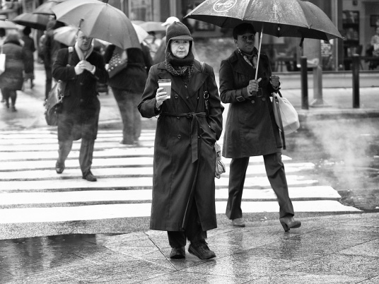 Coffee in the rain.